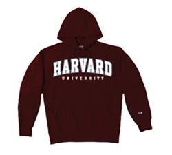 Versa Twill Harvard Maroon Hooded Reverse Weave Sweatshirt