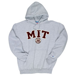 MIT w/Seal Tackle Twill w/ Embroidered Grey Hooded Sweatshirt