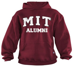 MIT Alumni Maroon  Hooded Sweatshirt