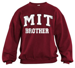 MIT Brother Maroon Crew Sweatshirt