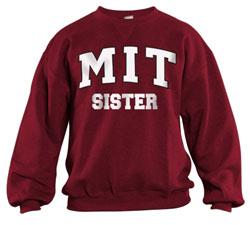 MIT Sister Maroon Crew Sweatshirt