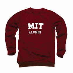 MIT Alumni Maroon Crew Sweatshirt