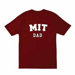 MIT Dad Cardinal  T Shirt
