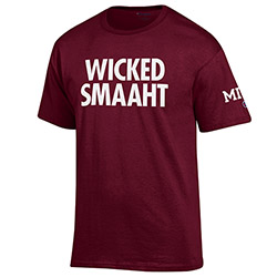 MIT   Wicked Smart Maroon T Shirt