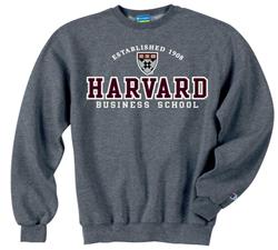 Harvard Business School Versa Twill Crew Granite Sweatshirt