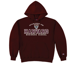 Harvard Business School Versa Twill Hood Maroon Sweatshirt