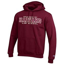 Harvard Law Maroon Versa Twill Hooded Sweatshirt