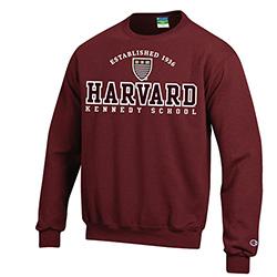 Harvard Kennedy School Versa Twill Crew Maroon Sweatshirt