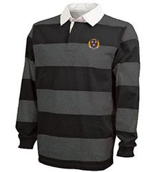 Classic Harvard Rugby Charcoal/Black Shirt