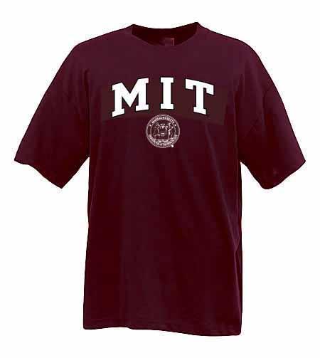 MIT w/ Seal Maroon T Shirt