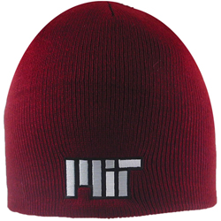 Maroon MIT Knit Contemporary Skull Hat