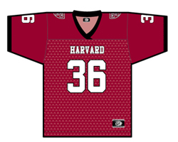 Harvard Youth Crimson #36 Football Replica Jersey