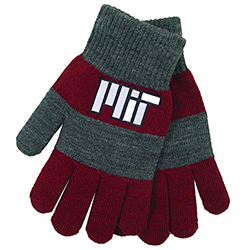 Rugby Maroon & Charcoal  MIT Knit Gloves