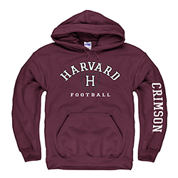 Harvard Football Maroon Hooded Sweatshirt