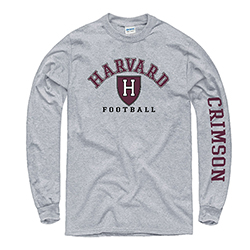 Harvard Football Grey Long Sleeve T Shirt