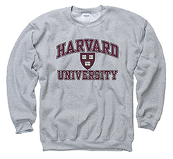 Harvard Grey Crew Sweatshirt