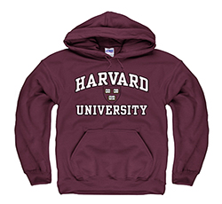 Harvard Maroon Hooded Sweatshirt