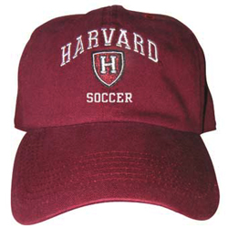 Harvard Soccer Athletic Shield  Burgundy Hat