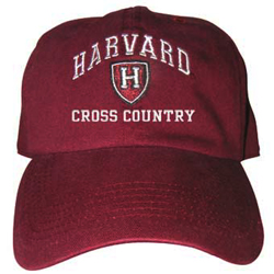 Harvard Cross Country  Athletic Shield  Burgundy Hat