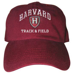Harvard Track & Field Athletic Shield  Burgundy Hat
