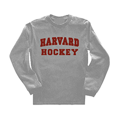 Long Sleeve Harvard Grey Hockey T Shirt