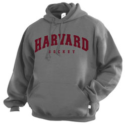 Grey Harvard Hockey Hd Adult Sweatshirt