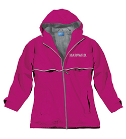Women's Harvard New Englander Hot Pink Rain Jacket