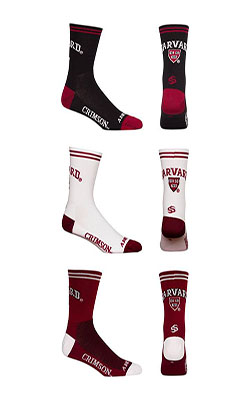 Officially Licensed Harvard Cycling Socks