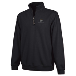 Harvard Business 1/4 Zip Contemporary Crosswind Black Sweatshirt