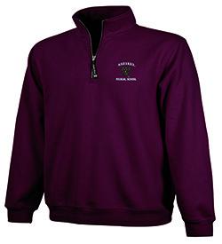 Harvard Medical 1/4 Zip Crosswind Maroon  Sweatshirt