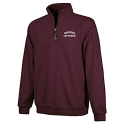 Harvard 1/4 Zip Crosswind Harvard Law Maroon Sweatshirt