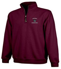 Harvard Business School 1/4 Zip Crosswind Maroon Sweatshirt