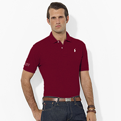 Ralph Lauren Men's Maroon MIT Polo