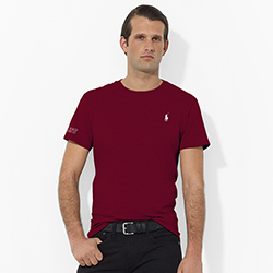 Ralph Lauren Maroon  MIT T Shirt