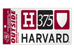 Harvard 375th Anniversary Decal
