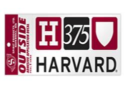 Harvard 375th Anniversary Decal