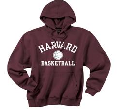 Versa Twill Harvard Basketball Maroon Hooded Sweatshirt
