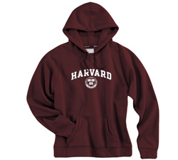 Women's Fit Maroon Harvard Hooded Sweatshirt
