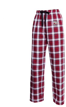 MIT Maroon/White Contemporary Flannel Pants