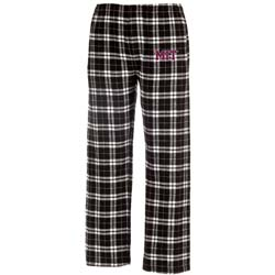 MIT Black/White  Contemporary Flannel Pants