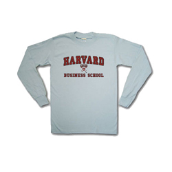 Business School  Grey Long Sleeve T Shirt