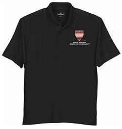 Harvard Kennedy  School Wicking Micro Mesh Black Polo
