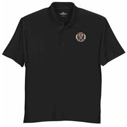 Harvard Veritas Wicking Micro Mesh Black Polo