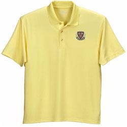 Harvard Veritas Micro Mesh Sun Yellow Polo