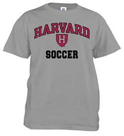 Harvard Soccer Grey T Shirt