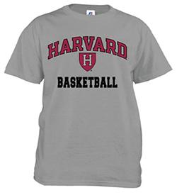 Harvard Basketball Grey T Shirt