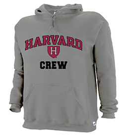 Harvard Grey Crew Hooded Sweatshirt