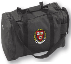 Harvard Black Embroidered Gear Bag