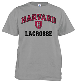 Harvard Lacrosse Grey T Shirt