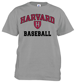 Harvard Baseball Grey T Shirt